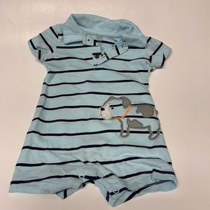 Carters boys 6M blue romper
